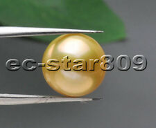 P5695 AA+ Natural 12.5mm Golden ROUND Edison KESHI PEARL LOOSE BEAD