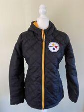 Pittsburgh Steelers GIII Women's Full Zip Hooded Puffer Jacket Choose Size