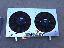 For Nissan Skyline R32 GTS GTR Aluminum Radiator Fan Shroud + Fans