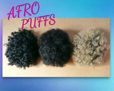 3x Afro puffs. 1b/2/27   (curly/ponytail/black/brown/blonde/hair/extensions)