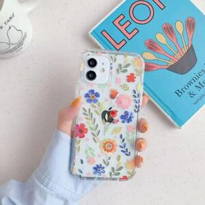 Case For iPhone 13 12 11 Pro XR XS MAX SE2 8 7 Plus Shockproof TPU Floral Cover