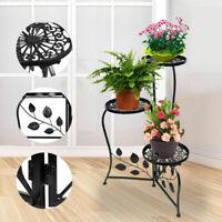 Metal Plant Stand Shelf Holds 3-Flower Pot Racks Home Yard Garden Patio Decor