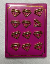 New listing Jewel Shaped Office Bulletin Board Push Pins - 12 Gold