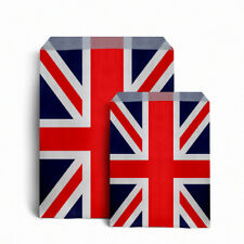 "Union Jack Design Kraft Paper - 100 Counter Bags 7"" x 9"""