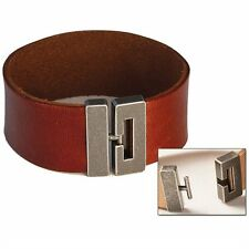 """Bracelet Connector 1"""" (25 mm) Antique Nickel Finish Tandy Leather 7001-03"""