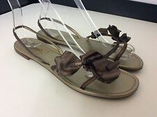 YSL Yves  Saint Laurent SANDALs  shoes RRP £460 Size 37 Uk 4 Brown Flowers