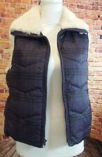 Big Chill Puffer Vest Womens Ladies Size Medium Purple Black Plaid