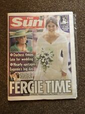 Princess Eugenie The Sun Newspaper Royal Wedding 13 Oct New