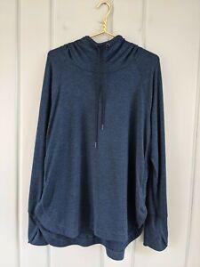 Athleta Uptempo Hoodie Sweatshirt Women XL Blue 382882 Extra Large Tunic CYA Top