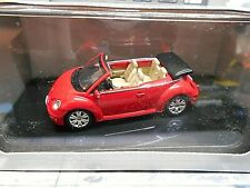 VW Volkswagen Käfer New Beetle Cabrio Convertible red rot Autoart 1:43