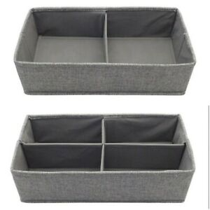 GREY CHEST DRAWER CUPBOARD WARDROBE DIVIDERS CHOICE OF 2 OR 4 DIVIDERS
