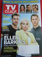 TV GUIDE JUNE 2016 ANIMAL KINGDOM ELLEN BARKIN JAMES FRANCO EVA LONGORIA