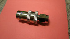 Lot of 3 RF Industries SMA Male To BNC Female Interseries Adapter