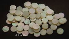 "20+2pcs Free 6.35mm/1/4"" White Mother of Pearl Dots,Pure White,Shiny Front"