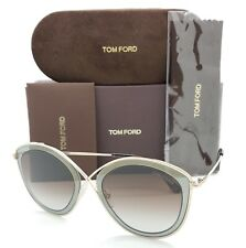 New Tom Ford Sascha sunglasses FT0604 50K 55mm Gold Grey Brown Gradient GENUINE