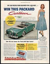 Oct. 1953 PACKARD CARIBBEAN Convertible Armour Contest Giveaway AD 1954 Model?