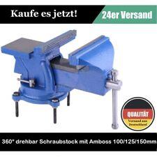 360° drehbar Schraubstock mit Amboss für Werkbank 100/125/150mm Spannweite DHL