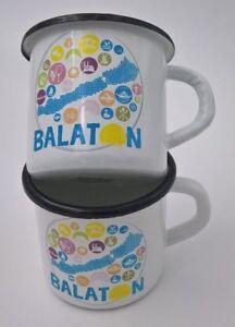 Siofok Balaton - Emaille Tassen Set (2 Stück) laut Abbildung, für Ungarn - Fans