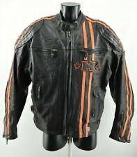 Halvarssons MEN'S Moto Chaqueta de Abrigo de Cuero Real Moto Negro Tamaño 52