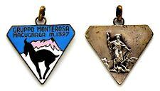 Medaglia Con Smalti Gruppo Monterosa Macugnaga m. 1327 Metallo Argentato