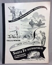1950 Vintage SANTA FE Kansas City Sporting Goods GUN Lyman HUNTING Catalog Hoppe