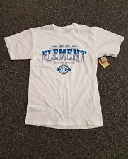 New Element Men's SM*Tee Short Sleeve Cotton White**WIND*WATER*FIRE*EARTH**