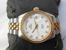 SAPPHIRE CRYSTAL 2 TONE ORIENT DIAMOND DIAL OYSTER MODEL MEN AUTOMATIC WATCH
