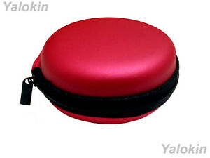Red Leather Hard Carrying Case for Coins Currency Keys Remotes Lighters