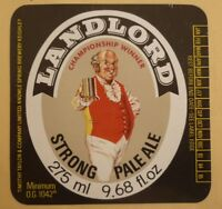 OLD BRITISH BEER LABEL, TIMOTHY TAYLOR KEIGHLEY BRADFORD ENGLAND, LANDLORD ALE