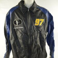 Kurt Busch NASCAR Leather Jacket, Size Extra Large Autographed & XX/100 COA