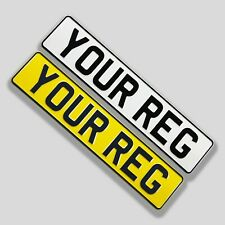 Pressed Metal Number Plates - Registration Plates - 1 Set - Road Legal - 3D Look