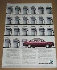 BMW-The Ultimate Driving Machine-Series 7 anni 1980 RIVISTA Auto Pubblicità Poster