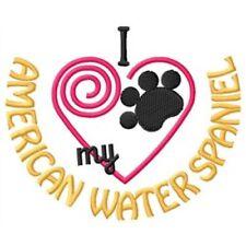 """I """"Heart"""" My American Water Spaniel Fleece Jacket 1349-2 Size S - Xxl"""