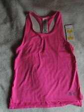 NWT girls youth UNDER ARMOUR SHIRT~TANK TOP~SIZE LARGE~L~hot pink