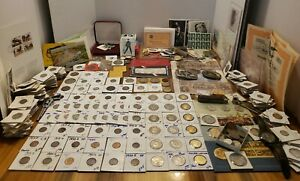 HUGE COIN LOT SILVER COINS silver bicentennial proof set MORGANS more estate lot