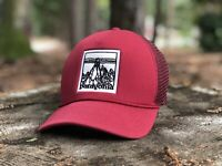 Patagonia - Master Chief Trucker Hat - Etched Mountain Red - RARE - EUC Fall13