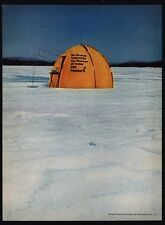 1966 TEACHER'S Scotch Whiskey - Ice Fishing - Tent - Fish Shack - VINTAGE AD