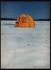 1966 TEACHER'S Scotch Whiskey - Ice Fishing - Tent - Fish Shack - VINTAGE AD