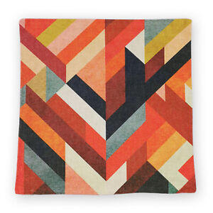 Abstract Triangle Colour Blocks Art Square Cushion Cover Home/Office/Sofa/Couch