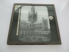 MAGIC LANTERN SLIDE NORWICH CATHEDRAL VIEW FROM SOUTH WEST CORNER OF CLOISTERS