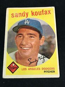 1959 Topps #163 SANDY KOUFAX Los Angeles Dodgers Fair to Good ~AP20A