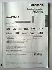 Panasonic DVD Recorder DMR-EX84C Operating Instructions