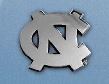 North Carolina Tarheels Heavy Metal Auto Emblem [NEW] UNC Chrome Car Decal CDG