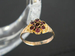 ANTIQUE GEORGIAN OR VICTORIAN 12CT GOLD RUBY RING! RING FROM 1833 or 1884!