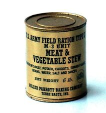 """1:6 scale WW II U.S. """"Meat and Vegetable Stew"""" can"""
