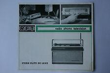 Sammlungsauflösung altes Prospekt RFT radio phono Stern Elite de luxe !!!