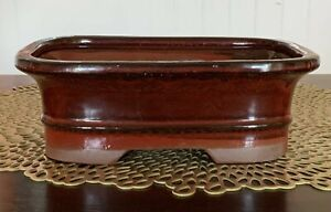 """7"""" Glazed Ceramic Bonsai Pot in a Variety of Styles & Colors"""