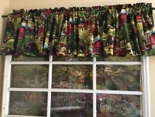 Farm scene with horses cows truck tractor Valance