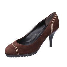 women's shoes VICINI by ZANOTTI  6,5 (EU 36,5) court brown suede ZX10-36,5