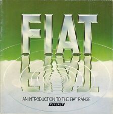 Fiat 1979 UK Market Sales Brochure 126 127 128 3P Strada X1/9 131 Mirafiori 132